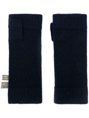 Z kaszmiru niebieskie rękawiczki bez palców N.peal