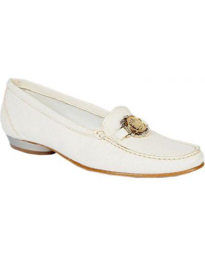 Туфли на каблуке кожаные с мехом Kelton
