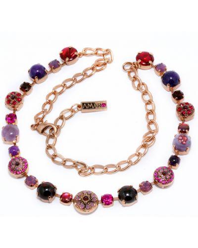 Фиолетовое ожерелье с камнями Amaro