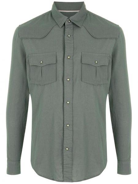 Zielona koszula z długimi rękawami Osklen