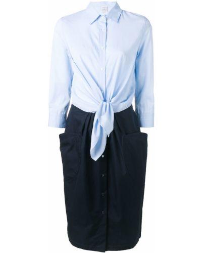 Платье миди на пуговицах - синее Sara Roka