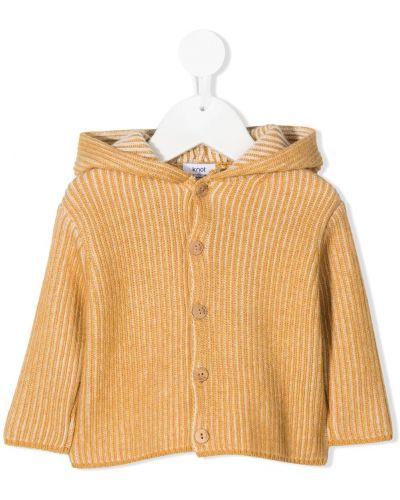 С рукавами желтая куртка с капюшоном Knot
