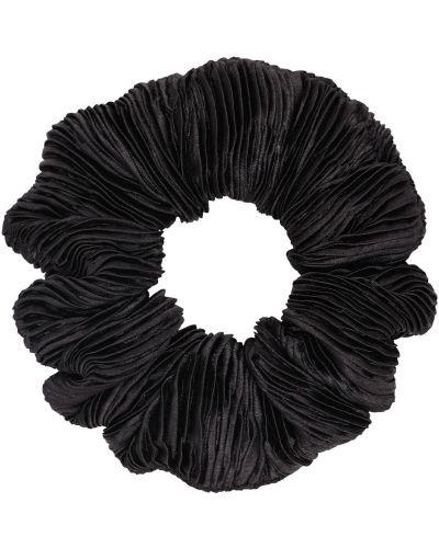 Pofałdowany satyna czarny gumka do włosów Ganni