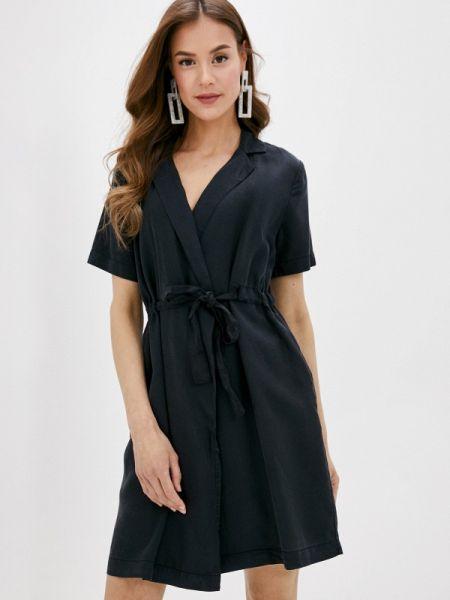 Платье с запахом черное Pieces