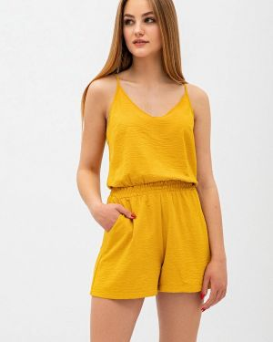 Комбинезон с шортами желтый Itelle