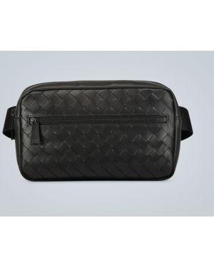 Кожаный черный классический ремень с поясом Bottega Veneta