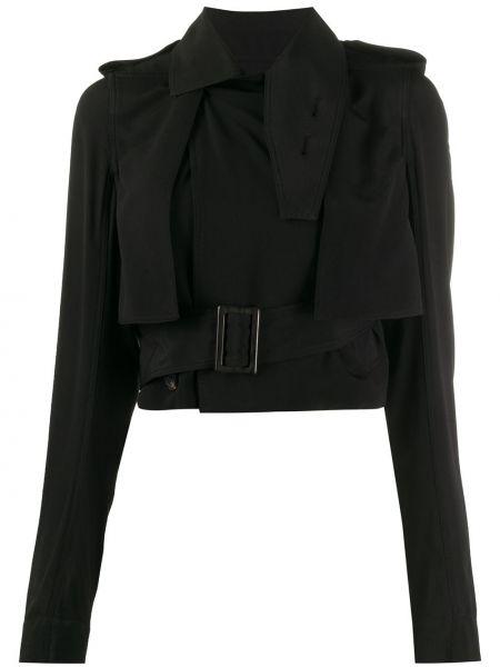 Куртка черная укороченная Rick Owens