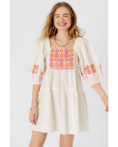 Платье с вышивкой - белое Accessorize