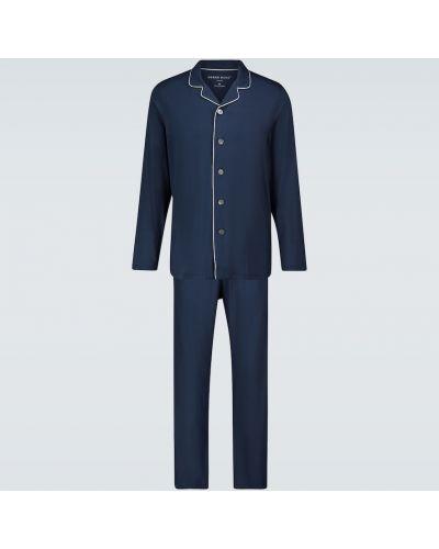 Niebieska piżama z koszulą Derek Rose