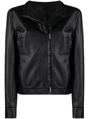 Черная кожаная длинная куртка винтажная A.n.g.e.l.o. Vintage Cult