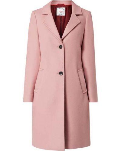 Różowy długi płaszcz wełniany z długimi rękawami S.oliver Red Label