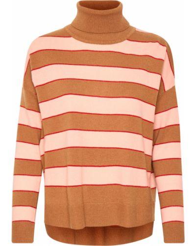 Pomarańczowy pulower oversize z długimi rękawami Inwear