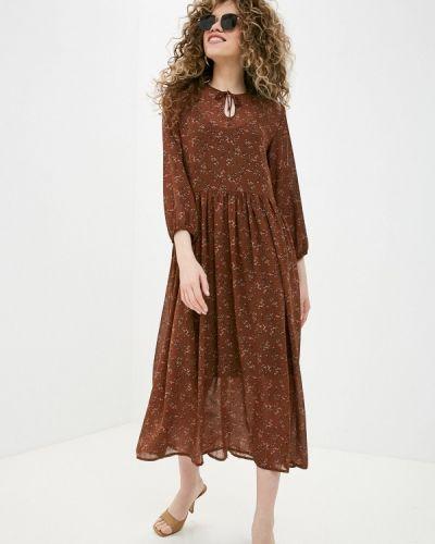 Коричневое повседневное платье Be Main