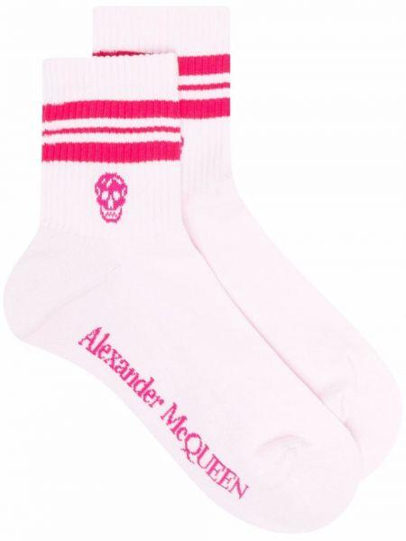 Розовые носки с принтом Alexander Mcqueen