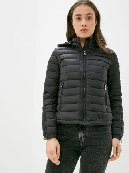 Теплая черная утепленная куртка Conso Wear