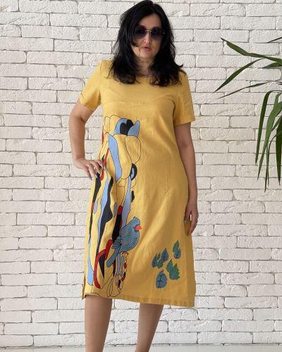 Платье миди - желтое Eternal Flame
