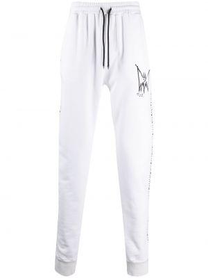 Białe spodnie bawełniane z printem Mjb Marc Jacques Burton