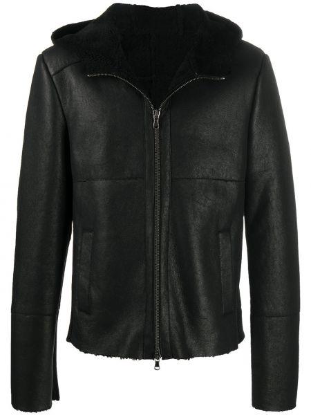 Кожаная черная куртка на молнии с воротником S.w.o.r.d 6.6.44