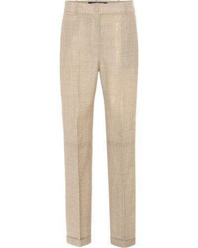 Beżowe spodnie wełniane Jacquemus
