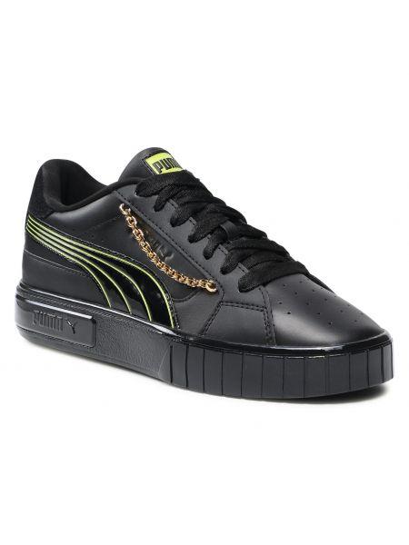 Buty sportowe skorzane - czarne Puma