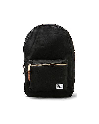 Рюкзак на молнии черный Herschel Supply Co.