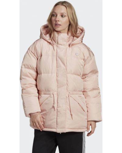 Пуховик оверсайз - розовый Adidas