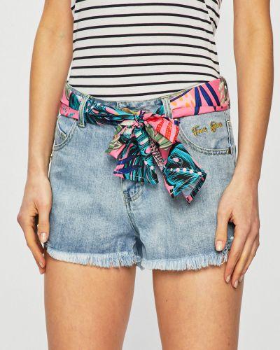 Джинсовые шорты с карманами на пуговицах Femi Stories