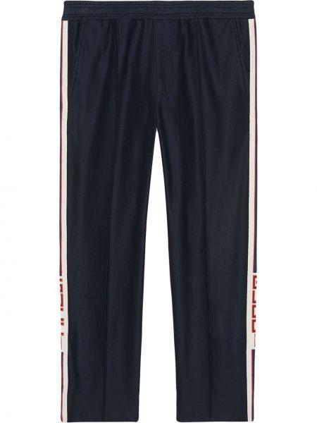 Bawełna ze sznurkiem do ściągania niebieski bawełna majtki Gucci