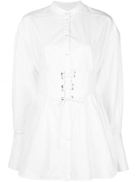 Biała koszula bawełniana z długimi rękawami Ellery