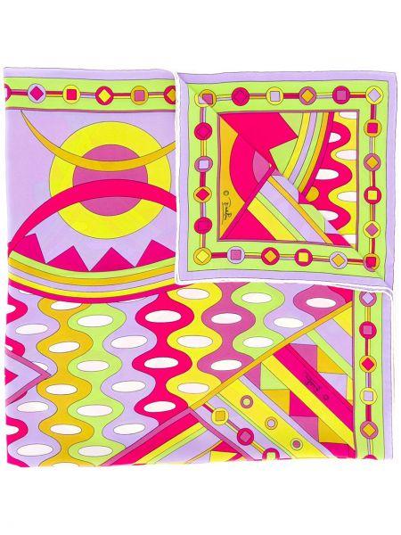 Фиолетовый шелковый платок Emilio Pucci Pre-owned