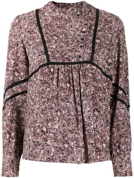Розовая блузка с длинным рукавом с манжетами на пуговицах из вискозы Ba&sh