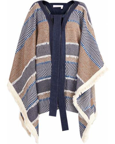 Пальто с бахромой трикотажное See By Chloe