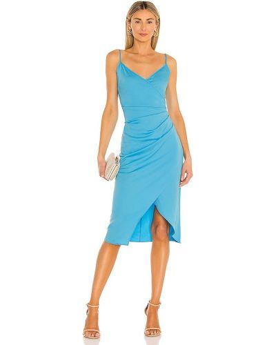 Сатиновое вечернее платье - синее Bcbgeneration