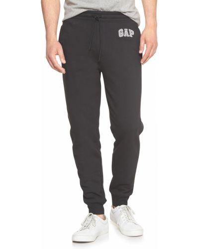Флисовые спортивные брюки - черные Gap