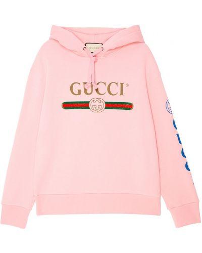 Худи длинное с капюшоном Gucci