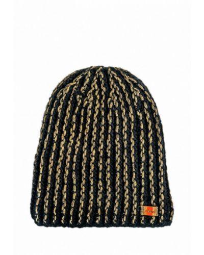 Черная шапка бини Живой шелк