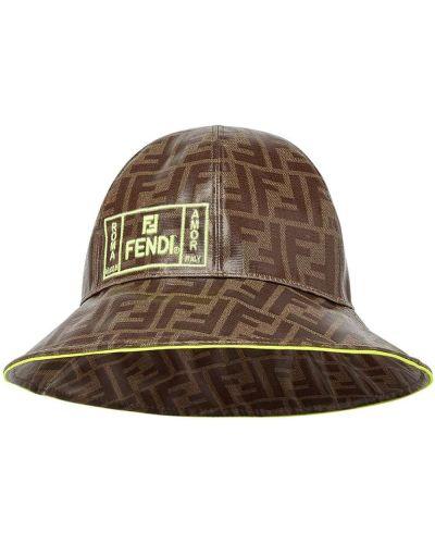 Желтая шапка Fendi Kids