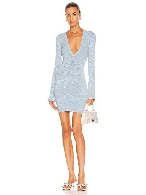 Niebieska sukienka z wiskozy Atoir