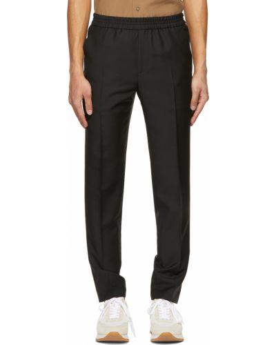 Czarne spodnie wełniane Harmony