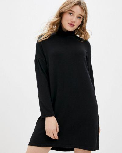 Вязаное трикотажное черное платье Tantra