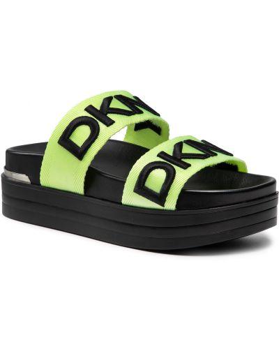 Zielone sandały Dkny