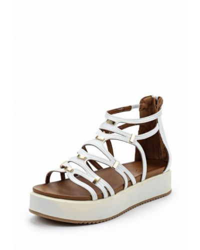 Белые кожаные сандалии Inuovo