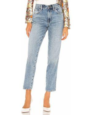 Jeansy z wysokim stanem bawełniane na plażę Pistola