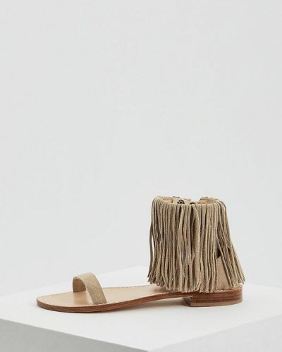Бежевые сандалии замшевые Twin-set Simona Barbieri
