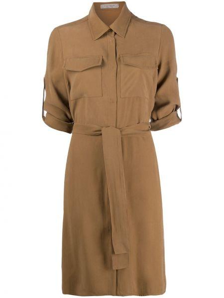 Коричневое платье миди D.exterior