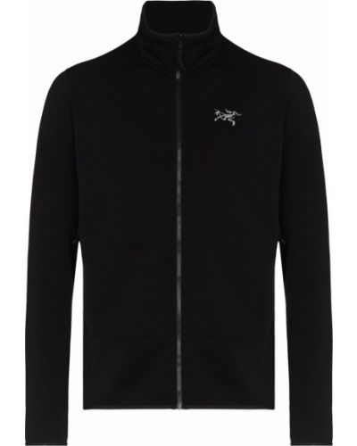 Czarna kurtka z haftem Arcteryx