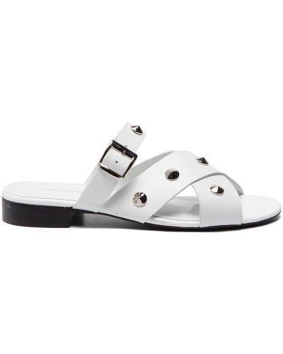 Шлепанцы на каблуке - белые Maccioni