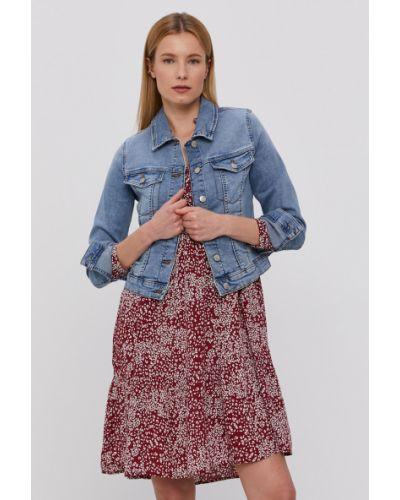 Niebieska kurtka jeansowa bawełniana zapinane na guziki Vero Moda