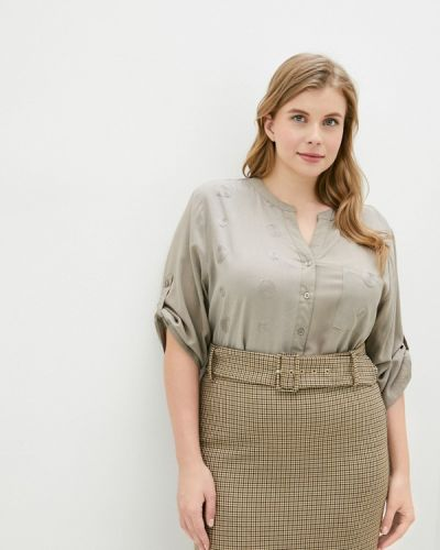 Бежевая блузка с длинным рукавом с длинными рукавами Dlys