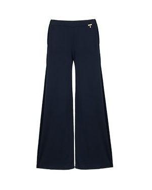 Синие брюки из вискозы Elisa Fanti
